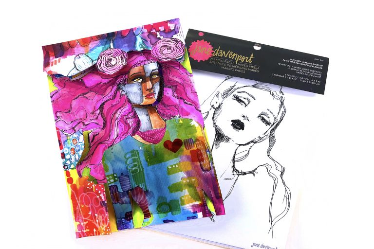 Not Quite a Blank Slate with Courtney Diaz for Spellbinders featuring Making Faces collection by Jane Davenport