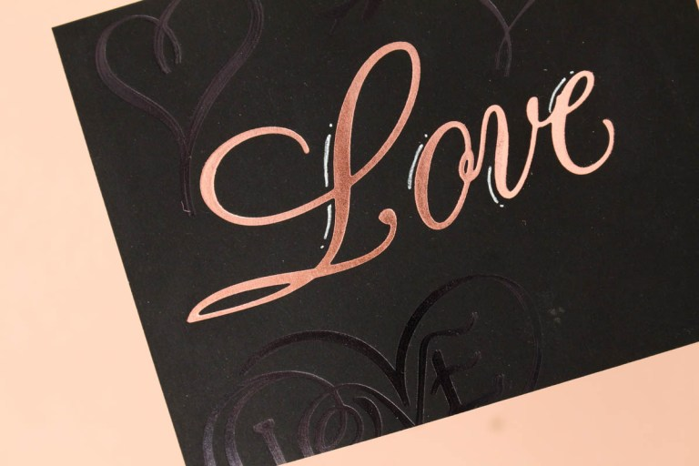 Paul Antonio Glimmer Plates Inspiration | One Layer Love Card with Zinia for Spellbinders