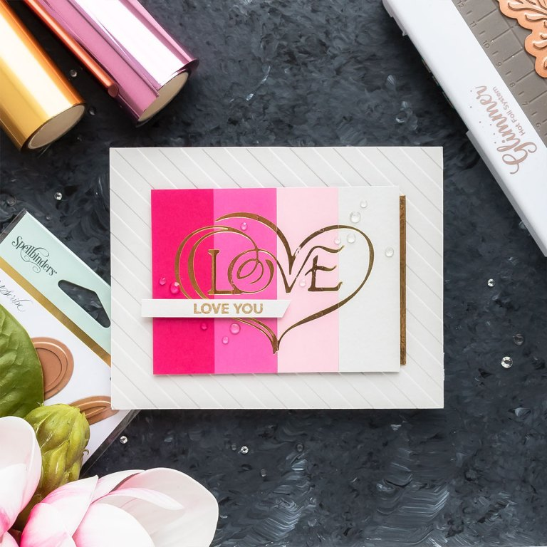Video: Valentine's Day Cards & Tags with Paul Antonio Glimmer Plates by Yana Smakula for Spellbinders
