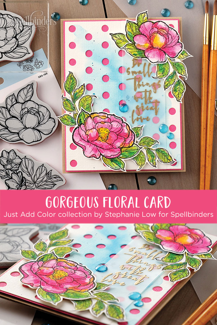 Just Add Color Collection by Stephanie Low - Inspiration | Easy Colored Card with Wanda Guess for Spellbinders