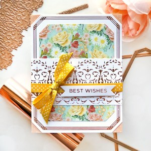 Spellbinders The Gilded Age Collection by Becca Feeken - Inspiration | Foiled Greeting Cards by Brenda Noelke