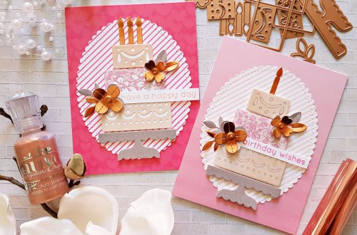 Spellbinders Happy Collection by Sharyn Sowell - Inspiration | Colorful Birthday Cards with Zsoka Marko