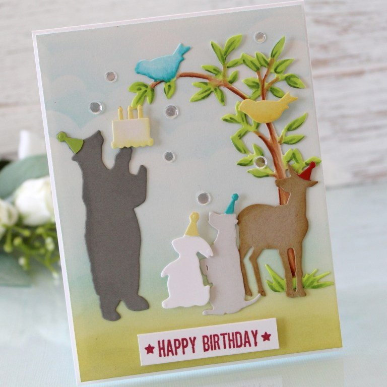 Spellbinders - Happy Collection by Sharyn Sowell - Inspiration | Happy Birthday Card with Melody Rupple