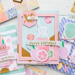 Spellbinders Card Club Kit Extras - Super Chill! June 2019 Edition - Happy Birthday Card