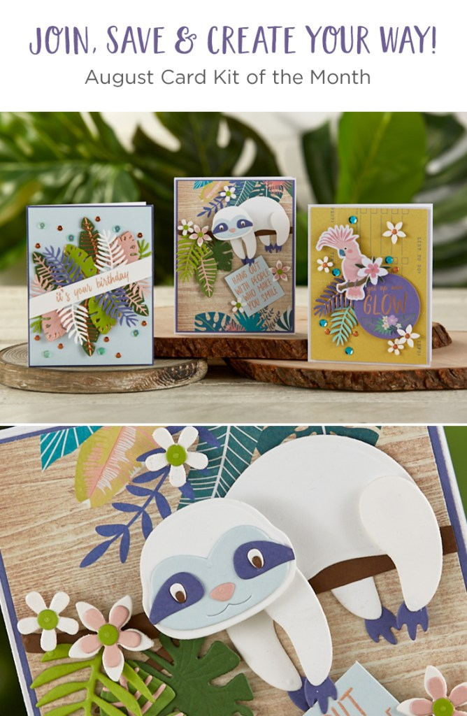 Spellbinders August 2019 Card Kit of the Month is Here – Hang With Me