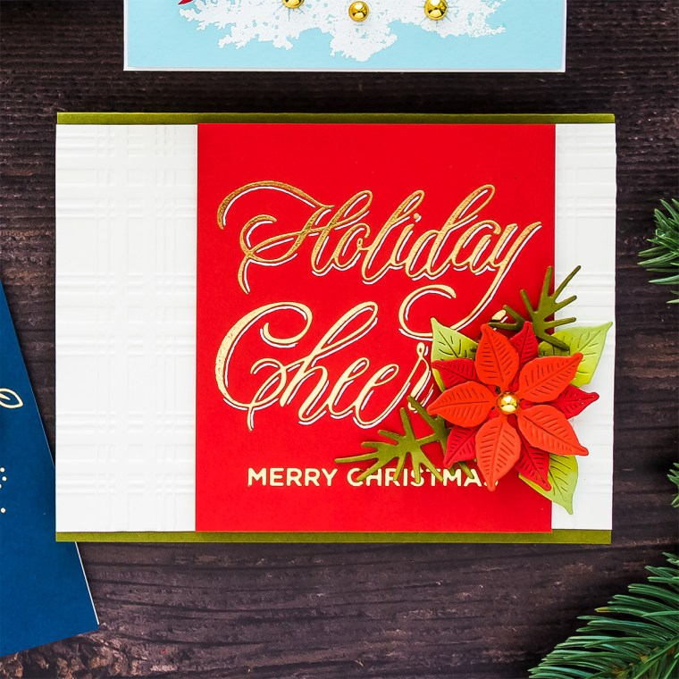 GLP-065 Faux Script Holiday Cheer