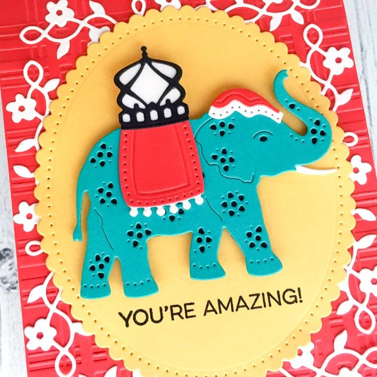 Spellbinders Die D-Lites Inspiration | Elephant Festival Cards with Jean Manis
