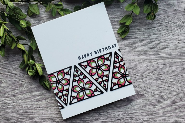 Die D-Lites Inspiration   Clean & Simple Cards with Daniel West