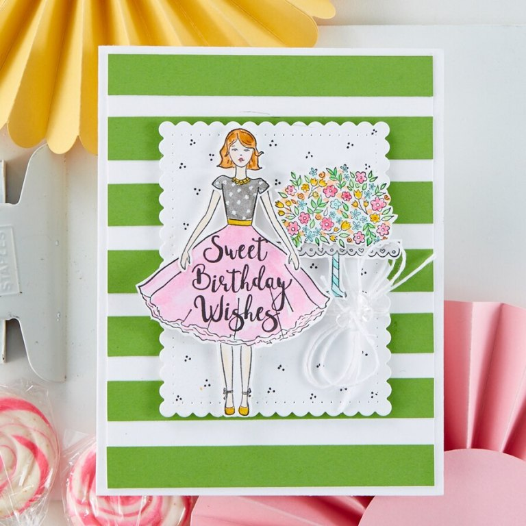 Fun Stampers Journey Kindness Matters Project Kit is Here! Sweet Birthday Wishes Card