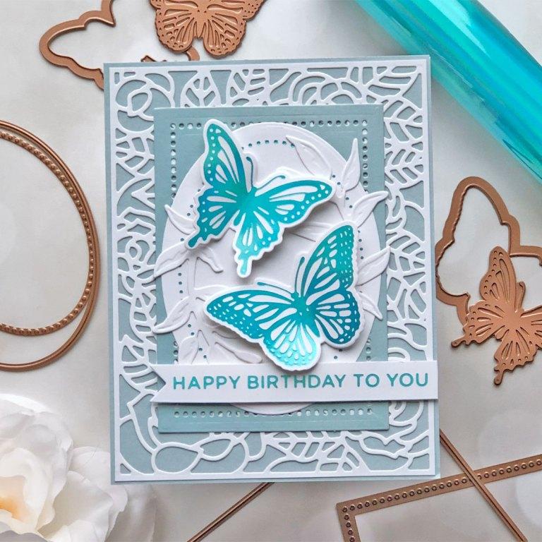 Spellbinders Modern Essentials Collection - Inspiration | Hot Foiled Card with Brenda #Spellbinders #NeverStopMaking #GlimmerHotFoilSystem #HotFoiling