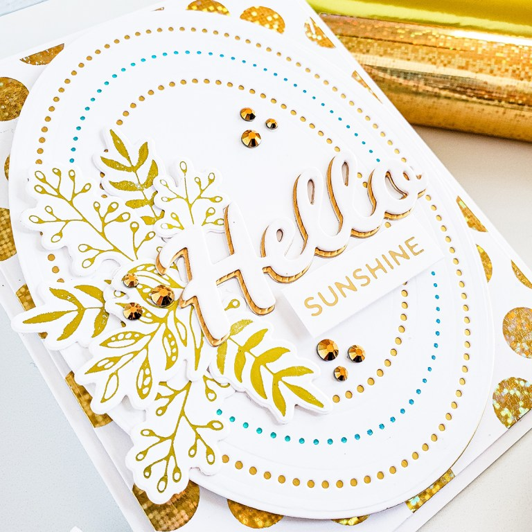 Spellbinders Bold Type Collection Inspiration | Clean & Simple Cards with Yasmin #NeverStopMaking #Spellbinders #cardmaking