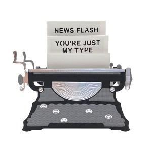 April 2020 Amazing Paper Grace Die of the Month is Here – Pop Up 3D Vignette Typewriter #Spellbinders #NeverStopMaking #SpellbindersClubKits