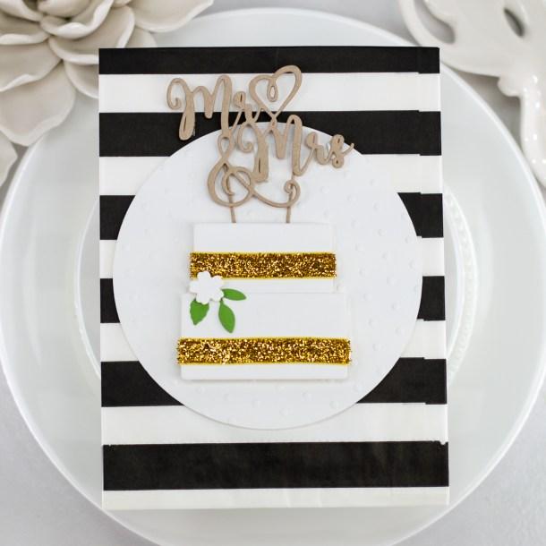 Spellbinders Wedding Season Collection by Nichol Spohr - Inspiration | Handmade Wedding Cards Ideas with Koren Wiskman | Video tutorial #Spellbinders #NeverStopMaking #DieCutting #Cardmaking