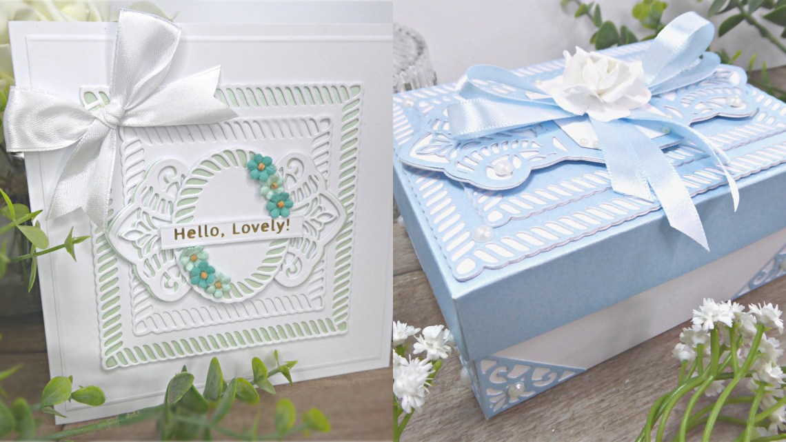 Spellbinders Elegant Twist Collection by Becca Feeken - Cardmaking Inspiration with Linda Parker #spellbinders #NeverStopMaking #AmazingPaperGrace