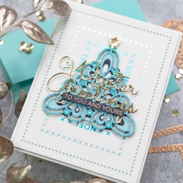 Spellbinders Sparkling Christmas 2020 Collection - Inspiration | Foiled Cardmaking Ideas with Jenny #Spellbinders #NeverStopMaking #GlimmerHotFoilSystem #Cardmaking #ChristmasCardmaking