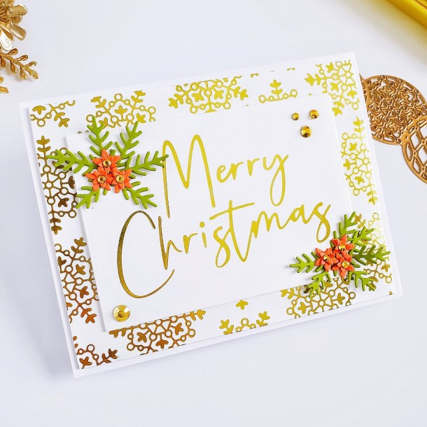 Spellbinders Sparkling Christmas Collection | Inspiration with Yasmin Dias #Spellbinders #NeverStopMaking #Christmascardmaking #Cardmaking #GlimmerHotFoilSystem