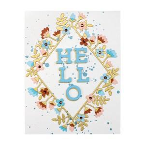 Spellbinders September 2020 Small Die of the Month is Here – Hello & Thank You #Spellbinders #NeverStopMaking #Cardmaking