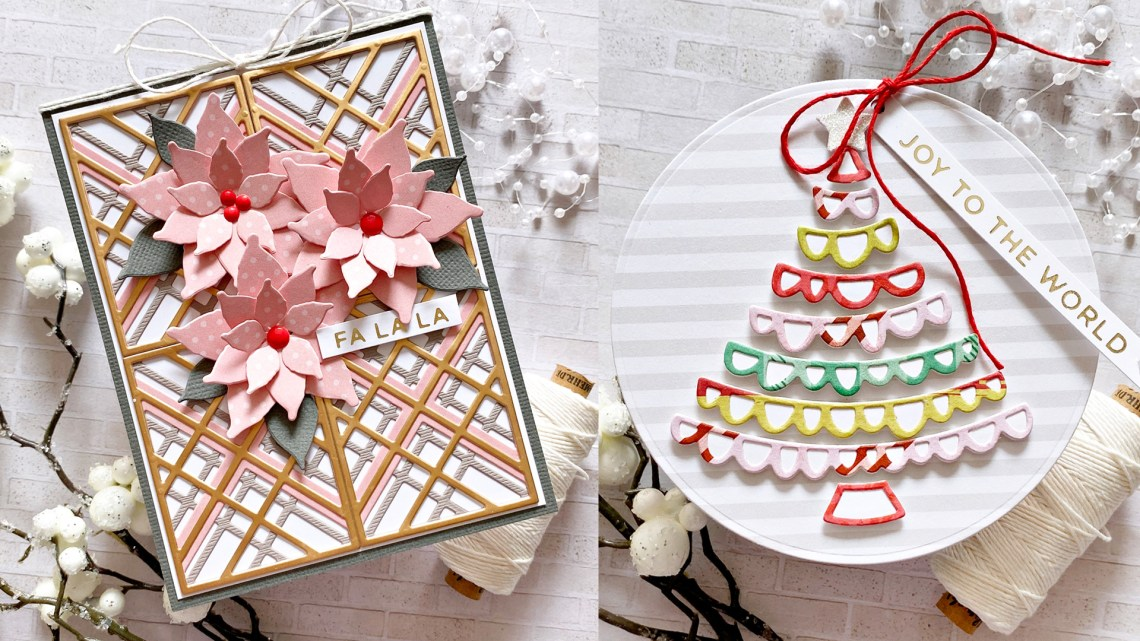 Spellbinders Sparkling Christmas Collection – Cardmaking Inspiration with Zsoka Marko #Spellbinders #NeverStopMaking #Christmascardmaking #Cardmaking