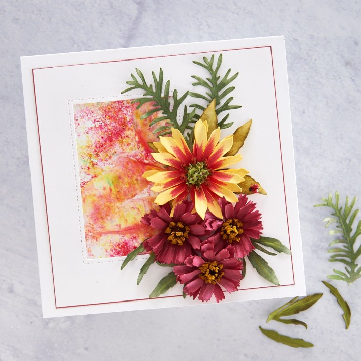 What's New at Spellbinders | Autumn Flora Collection by Susan Tierney-Cockburn. S4-1075 Coreopsis #Spellbinders #NeverStopMaking #PaperFlowers #DieCutting #Cardmaking
