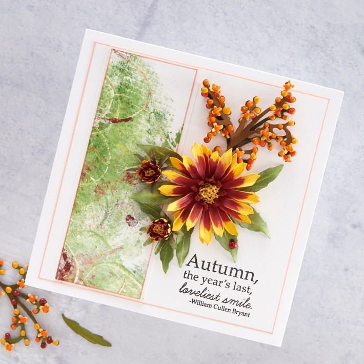 What's New at Spellbinders | Autumn Flora Collection by Susan Tierney-Cockburn. S4-1079 Foliage & Ladybugs #Spellbinders #NeverStopMaking #PaperFlowers #DieCutting #Cardmaking