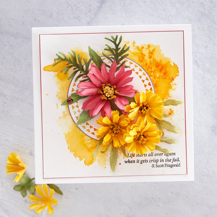 What's New at Spellbinders | Autumn Flora Collection by Susan Tierney-Cockburn. S4-1076 Gaillardia #Spellbinders #NeverStopMaking #PaperFlowers #DieCutting #Cardmaking