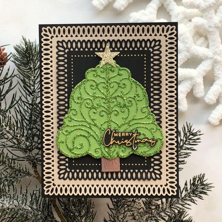 Spellbinders Becca Feeken Picot Petite Collection - Cardmaking Inspiration with Brenda Noelke #Spellbinders #NeverStopMaking #AmazingPaperGrace #DieCutting #Cardmaking