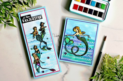 Spellbinders Jane Davenport Glorious Mermaids Collection Inspiration with Sandi MacIver #Spellbinders #NeverStopMaking #Stamping #Cardmaking