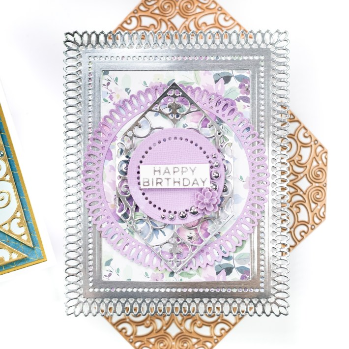 Spellbinders Becca Feeken Picot Petite Collection - Cardmaking Inspiration with Jenny Colacicco - Happy Birthday Card #Spellbinders #NeverStopMaking #AmazingPaperGrace #DieCutting #Cardmaking