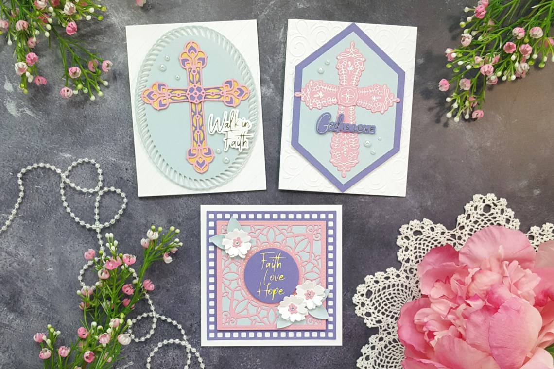 Inspirational and Elegant Cards with the Expressions of Faith Collection by Spellbinders