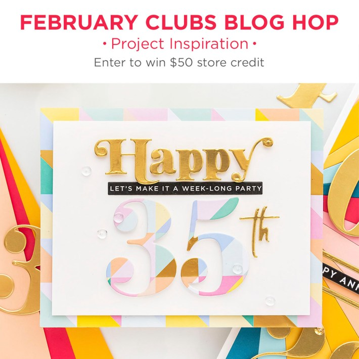 Spellbinders February 2021 Clubs Inspiration Blog Hop + Giveaways