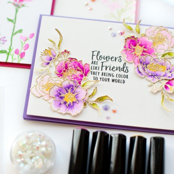 Watercolor Florals Card Set with Lea Lawson