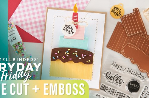 Die Cut and Emboss to Create this Sweet Interactive Card | Spellbinders Live