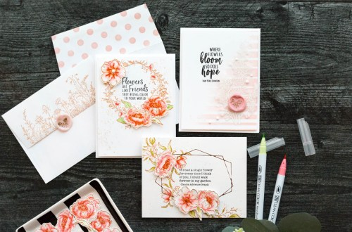 Watercolor Floral Card Set How-To with Marie
