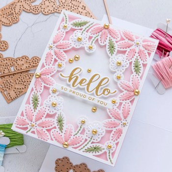 May 2021 Large Die of the Month is Here – Stitched Card Front, Border & Flower