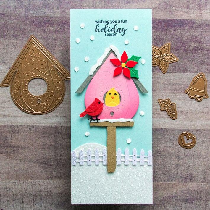 Seasonal Slimline Birdhouses by Jean Manis