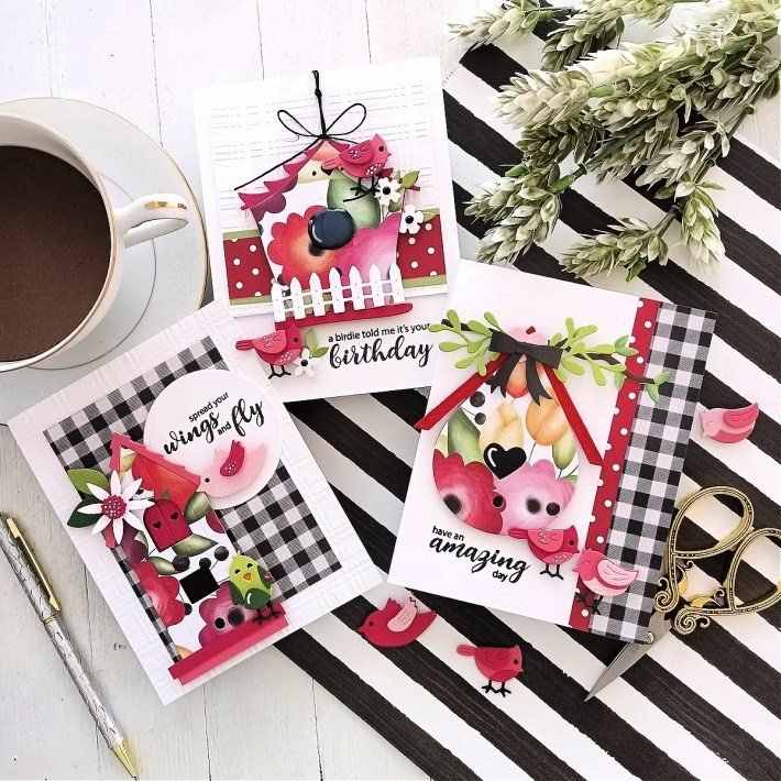 Everyday Cards with the Birdhouses Through the Seasons Collection with Tina Smith