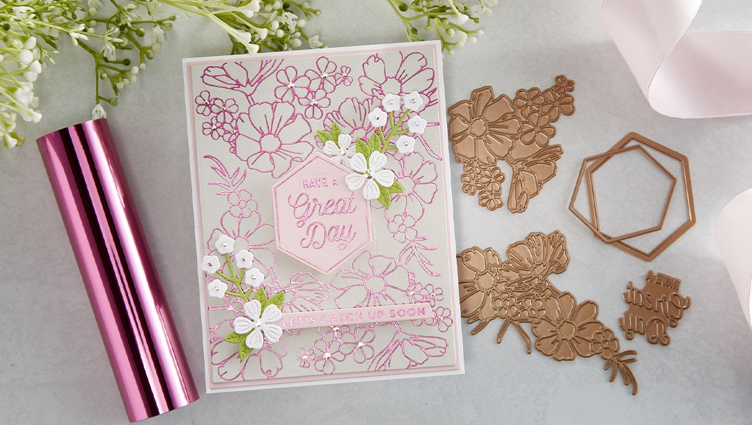 August 2021 Glimmer Hot Foil Kit of the Month is Here – Hex Floral