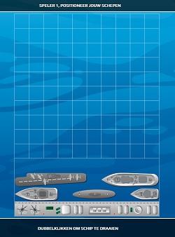 zeeslag positioneer schepen