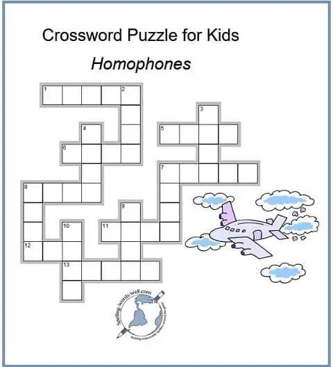 Fun Crossword Puzzle For Kids