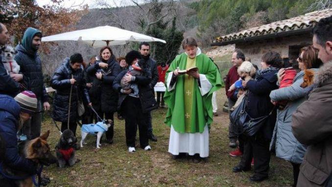 Benedizione degli animali a Collepino