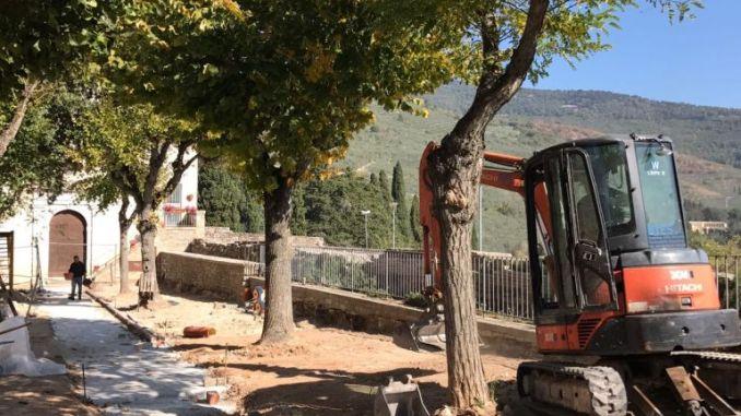 Spello, al via la riqualificazione dei giardini pubblici di Vallegloria