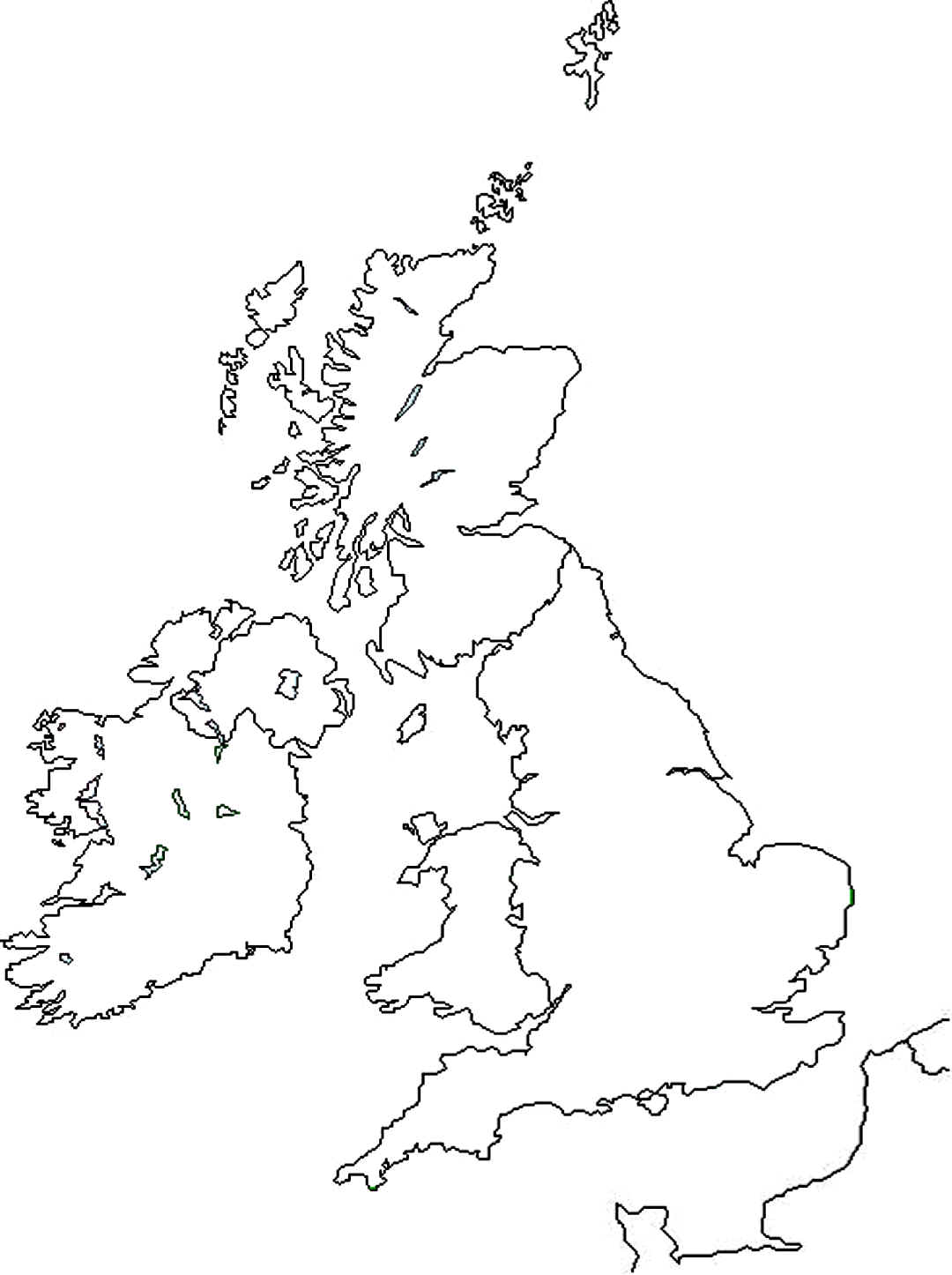 Blank Map Of The Uk Worksheet