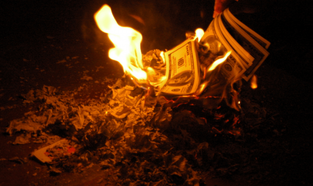 Burning money, wasting money in the war on drugs