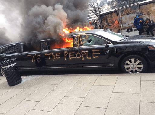 Trump Inauguration Day Protestors