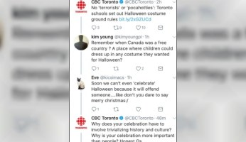 CBC News Lectures Canadians About Halloween On Twitter
