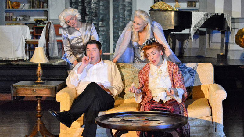 Image of Blithe Spirit Production cast, by Spencer Theatre Company