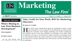 Take Credit For Your Work - ROI for Marketing Directors