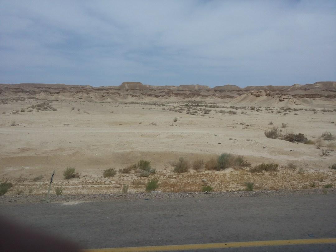 driving through the desert in Israel