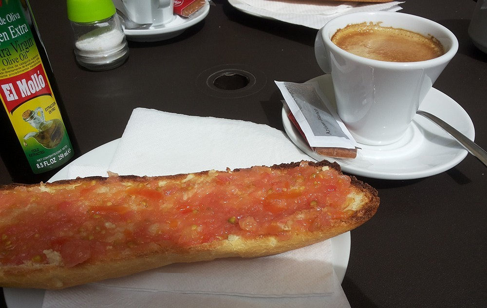 a traditional Spanish breakfast in Valencia