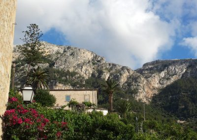 Finca surrounded by Tramuntana mountains